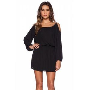 Eight Sixty black cold shoulder dress